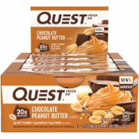 Quest Chocolate Peanut Butter Protein Bars 12 Count