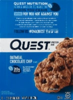 Quest Oatmeal Chocolate Chip Protein Bars 12 Count - 1.6 lb