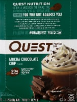 Quest Mocha Chocolate Chip Protein Bars 12 Count