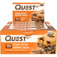 Quest Peanut Butter Brownie Smash Protein Bars 12 Count - 25.4 oz
