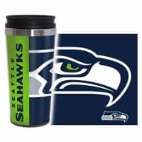 Seattle Seahawks Travel Mug - 14 oz Full Wrap - Hype Style - 1