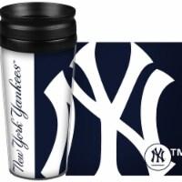 New York Yankees Travel Mug 14oz Full Wrap Style Hype Design - 1