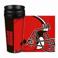 Cleveland Browns Travel Mug 14oz Full Wrap Style Hype Design - 1