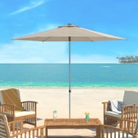 UV Resistant Hurst 9 Ft Easy Glide Market Umbrella Beige - 1 unit