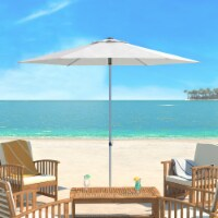 UV Resistant Hurst 9 Ft Easy Glide Market Umbrella Natural - 1 unit