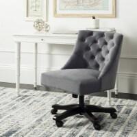 Soho Tufted Swivel Desk Chair Grey - 1 unit
