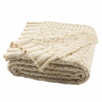 Adara Knit Throw Natural / Gold - 1 unit