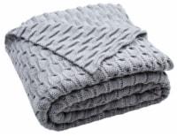 Noela Knit Throw Grey - 1 unit