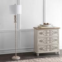 Philippa Floor Lamp White Washed - 1 unit