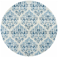 Martha Stewart Collection Brentwood Round Rug - Cream/Blue - 6.58 x 6.58 ft