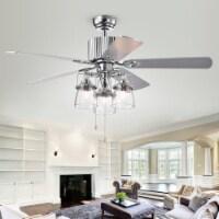 Parlin Ceiling Light Fan Chrome - 1 unit