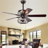 Erving Ceiling Light Fan Black - 1 unit