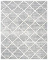 Martha Stewart Collection Lucia Shag Area Rug - Light Gray/White - 9 x 12 ft