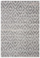 Safavieh Martha Stewart Lucia Shag Accent Rug - Light Gray/Dark Gray - 4 x 6 ft