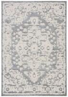 Martha Stewart Collection Lucia Shag Accent Rug - Light Gray/White - 4 x 6 ft
