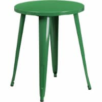 Flash Furniture CH-51080-29-GN-GG 24 in. Round Green Metal Indoor & Outdoor Table