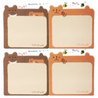 Wrapables Lounging Animal Memo Sticky Note (Set of 2), Bear - 2 Sets