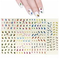 Wrapables Water Nail Art Transfer Slide Tattoos, Feathers (11 Designs/248 Nail Tattoos) - 11 Sheets