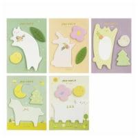 Wrapables Elegant Animals Memo Sticky Notes (Set of 5) - 5 Sets