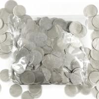 Wrapables 1  Round Tissue Confetti Party Decorations, Silver - 1