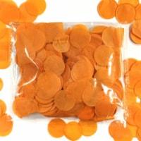 Wrapables 1  Round Tissue Confetti Party Decorations, Orange - 1
