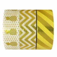 Wrapables Washi Masking Tape (Set of 3), Tropical Delight - 3 pieces