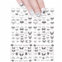 Wrapables 150+ Black Necklaces Water Slide Nail Art (6 sheets/Over 150 decals) - 6 sheets