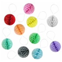 Wrapables Mini Honeycomb Ball Party Decorations, (Set of 10), 2 , Multicolored - 1