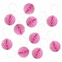 Wrapables Mini Honeycomb Ball Party Decorations, (Set of 20), 1 , Pink - 1