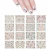 Wrapables 24 Sheets Kitty Cat Nail Stickers Set Cat Nail Art Nail Decals (700+ nail stickers) - 24 Sheets
