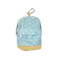 Wrapables Mini Backpack Pencil Case Pouch, Blue - 1