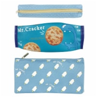 Wrapables Trendy Food Pencil Case and Stationery Pouches (Set of 3), Blue - 3 Pieces