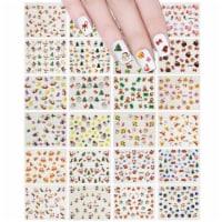 Wrapables 24 Sheets Falala Christmas Nail Stickers Holiday Nails Set Nail Art Sheets - 24 Sheets