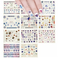 Wrapables 12 Sheets Starry Night Galaxy Water Slide Nail Art - 12