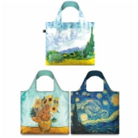 LOQI Mixed Museum Reusable Bags (Set of 3), Van Gogh Assorted - 3 Pieces