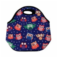 Wrapables Insulated Neoprene Lunch Bag, Rainbow Owls - 1