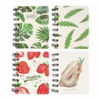 Wrapables Novelty Spiral Notebooks Journals Stationery (Set of 4), Vegetarian - 4 Sets