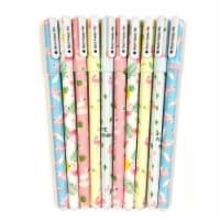 Wrapables Unicorn Flamingo Gel Ink Pens, 0.5mm Fine Point (Set of 10), Flamingo Black Ink - 10 Pieces