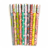 Wrapables Cute Novelty Gel Ink Pens, 0.5mm Fine Point (Set of 10), Fun Animal Black Ink - 10 Pieces