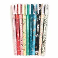 Wrapables Cute Novelty Gel Ink Pens, 0.5mm Fine Point (Set of 10), Whimsical Multicolor Ink - 10 Pieces