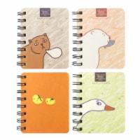 Wrapables Novelty Spiral Notebooks Journals Stationery (Set of 4), Animals - 4 Sets
