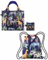 LOQI Wild Animals Backpack & Bag (Set of 2), Wild Zebras - 2 Pieces