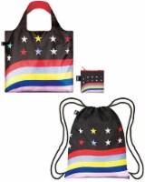 LOQI Travel Backpack & Bag (Set of 2), Travel Stars & Stripes - 2 Pieces