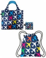 LOQI Backpack & Bag (Set of 2), Airport Airplane - 2 Pieces