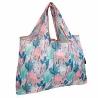 Wrapables Large Nylon Reusable Shopping Bag, Colorful Cacti - 1
