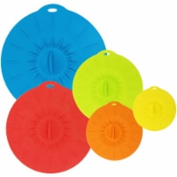 Wrapables Reusable Silicone Suction Bowl Lid Covers for Bowls, Pots, Pans, Mugs (Set of 5) - 5 Pieces