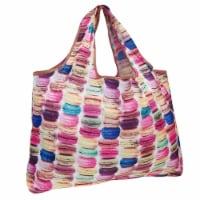 Wrapables Large Nylon Reusable Shopping Bag, Macarons - 1