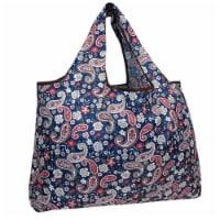 Wrapables Large Nylon Reusable Shopping Bag, Paisley Motif - 1