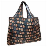 Wrapables Large Nylon Reusable Shopping Bag, Monkey Business - 1