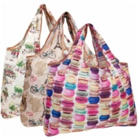 Wrapables Large Nylon Reusable Shopping Bags (Set of 3), European Delights - 3 Pieces